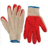 Перчатки прорезиненные красные