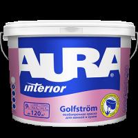 Краска особопрочная для стен и потолков AURA GOLFSTROM  9 л